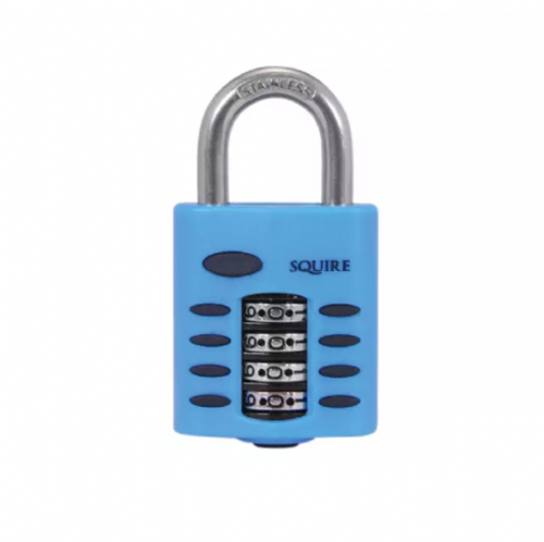 Squire CP40S Heavy Duty Rustproof Marine Combination Padlock 4 Wheel 38mm